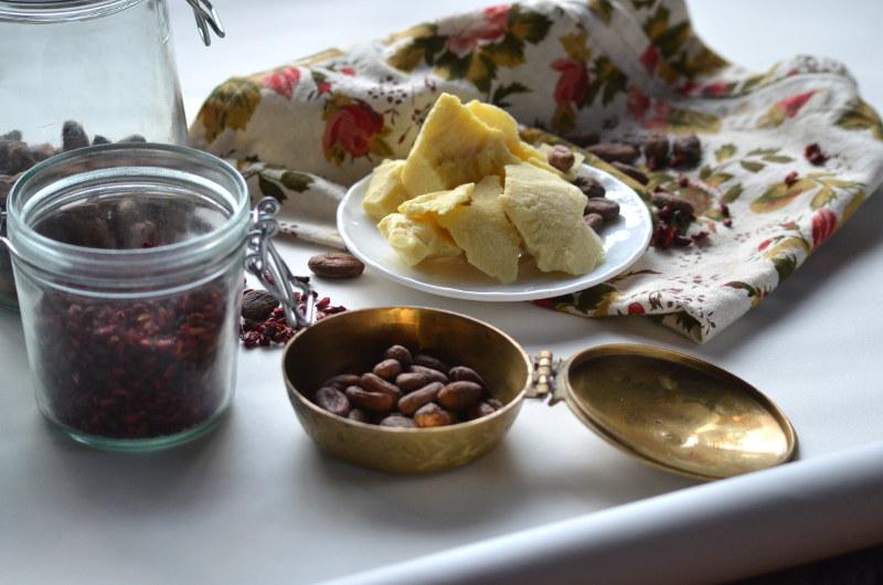 czekolada masło i nasiona