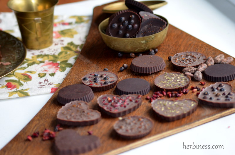 czekolady na desce