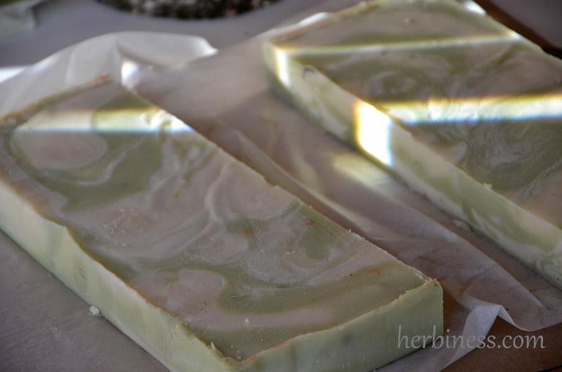 mydło blaty zielone marmury